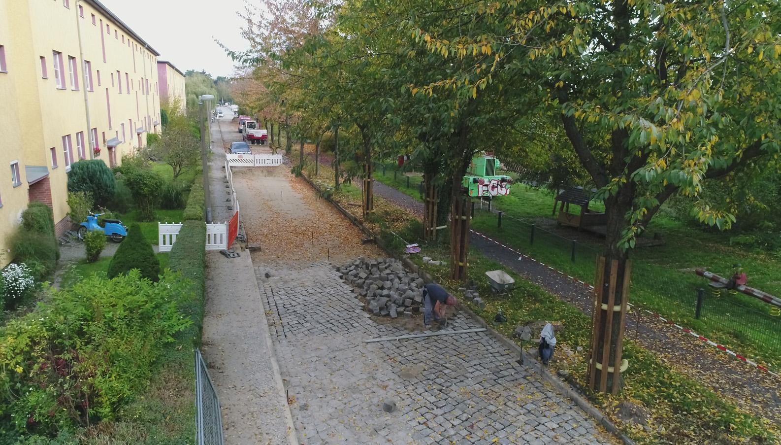 Strassenbau Hundsfelderstraße in Arbeit